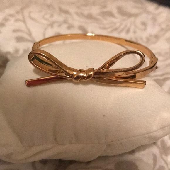 kate spade Jewelry - Gold Plates Kate Spade New York Bow Bangle